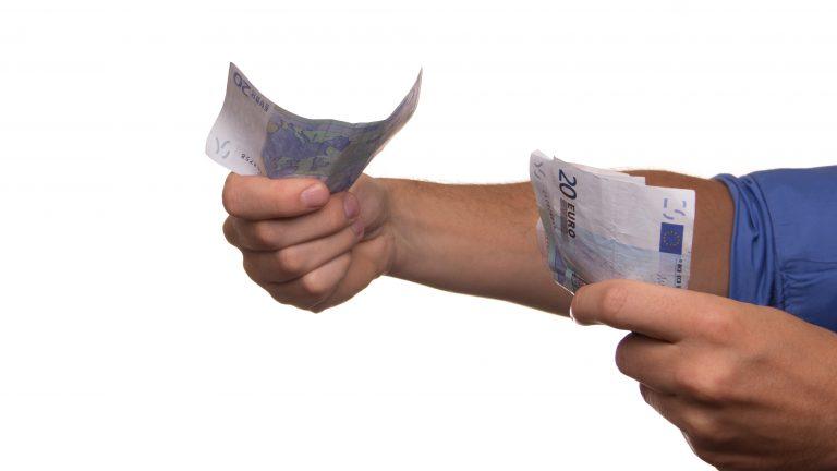 lending money gesture